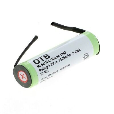 OTB Akku kompatibel zu Braun (1008) und Philips (HX5350) Zahnbürsten 1,2V NiMH ()