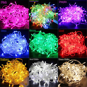 Multi-color-10M-100-LED-Bulbs-Christmas-Fairy-Party-String-Lights-Waterproof