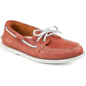 NIB Sperry Boat Shoe Orange Red 9 casual driving moccasin aldo