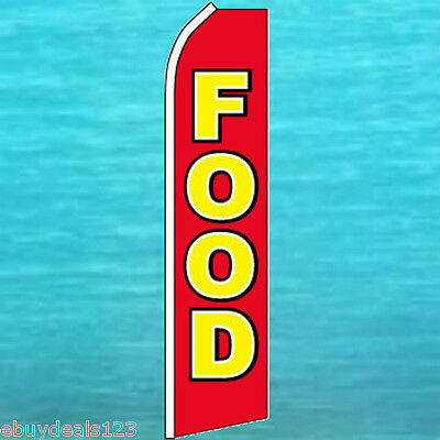 Food Flutter Flag Concession Advertising Banner Sign Bow Feather Swooper 25-1109