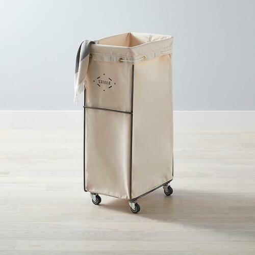 Steele Canvas Natural Sorting Hamper Vintage Laundry, Free Shipping