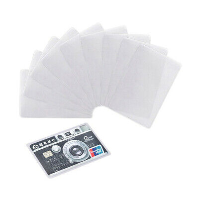 X20 Transparent Plastic Vertical Id Credit Card Holder Protector Sleeve