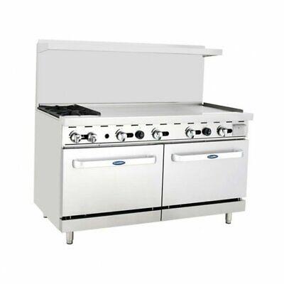 Atosa Usa Ato-2b48g 60 Gas Restaurant Range 2 Standard Ovens 2 Open Bu...