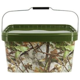 Brand new 5 litre NGT Square Camo Bucket