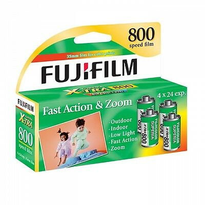Fujifilm X-TRA CZ ISO 800 Speed 4 Pack 35mm Color Film, Total 96 Exp. FRESH DATE