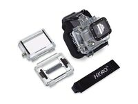 GoPro wrist strap and housings