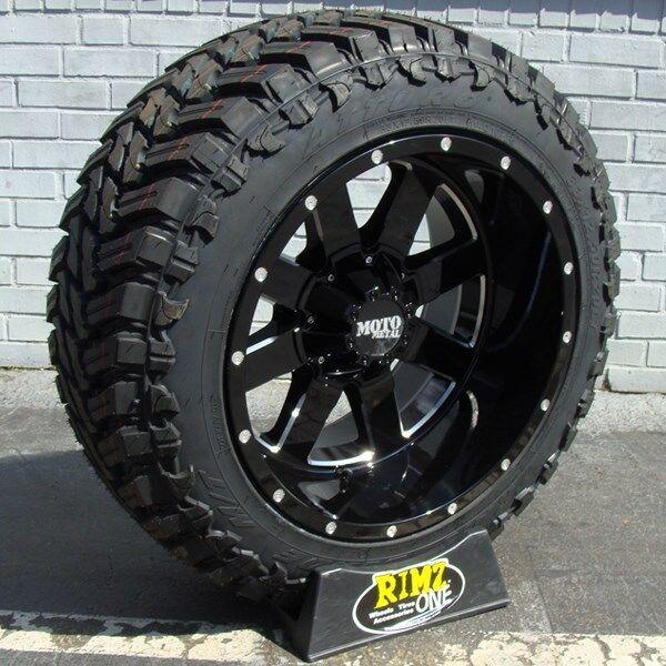 """22"""" 22x14 Moto Metal 962 35x12.50r22 Atturo Mt 35"""" Tires Ram F150 Silverado 2500"""