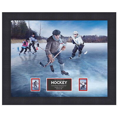 USPS New The History of Hockey Framed Art