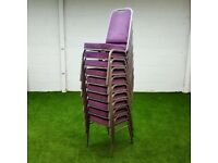 Purple Compact Stacking Chair