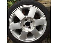 """Make me an offer!! 4x100 16"""" alloys wheels and four good kumho tyres, corsa clio mini kangoo laguna"""