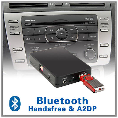 Car Bluetooth Handsfree A2DP MP3 CD changer adapter-Mazda 3 5 6 MPV Tribute