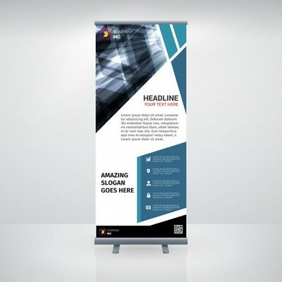 Aluminum 33x 79 Retractable Roll Up Banner Stand Up Trade Show Display
