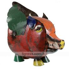 EE-I-EE-I-O Priscilla the Pig Large Outdoor Garden Metal Art Castle Hill The Hills District Preview