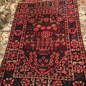 Handmade area rug with birds and flowers negotiable