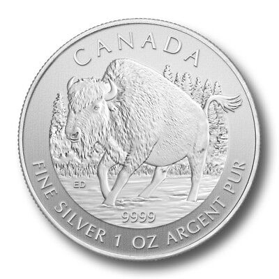 2013 Wood (2013 1 oz Silver Canadian Wood Bison Coin - Canadian Wildlife)