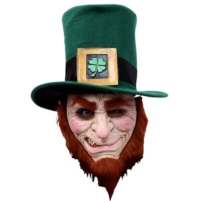 Irish Goblin Evil Leprechaun Adult Mask  Horror Halloween ](Leprechaun Mask)