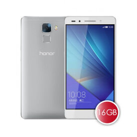 Unlocked Huawei Honor 7 Mobile Phone - Silver/White - Dual Sim