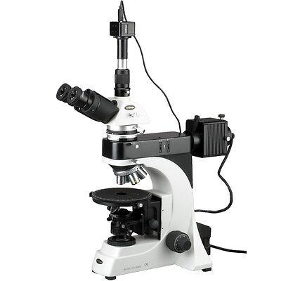 Amscope 50x-500x Epi Trinocular Infinity Polarizing Microscope 5mp Camera