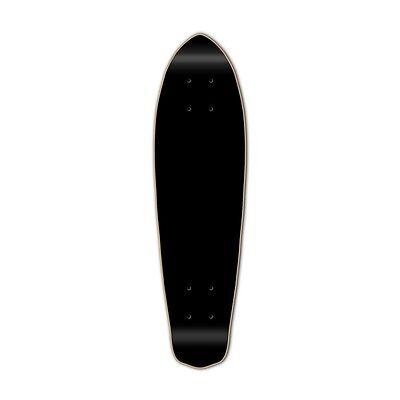 Yocaher Painted Micro Cruiser Longboard Deck Black