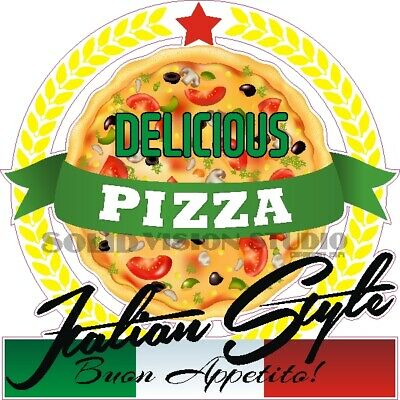 Pizza Italian Style Concession Trailer Food Truck Restaurant Waterproof Decal