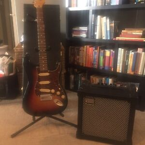 Fender Squire Classic Vibe Strat and Roland Amp