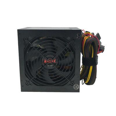 "650W 650 Watt 4.72"" Fan ATX Gold SATA PCIE Power Supply for Intel AMD PC System"