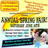 "Spring Fair and Garage Sale - Meet Elsa and Anna from ""Frozen""!"