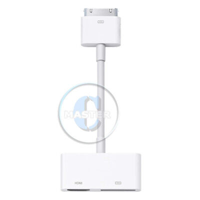 HDMI TV 30 PIN AV DIGITAL ADAPTER for APPLE iPAD 2 3 iPHONE 4S 4 iPOD TOUCH 4th