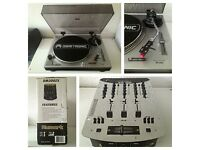 2 DJ Turntable Decks & Numark mixer Omnitronic Record Player similar to Technics