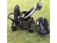 Double buggy and car seat