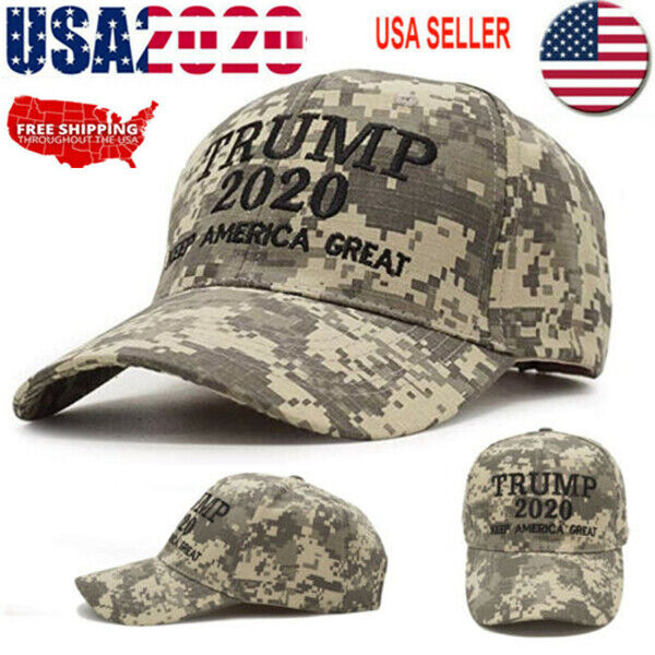 Trump 2020 Hat Digital Camo Keep America Great MAGA Embroidered Camouflage VN