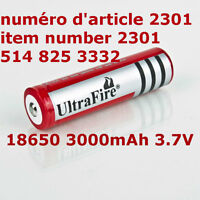 Ultra Fire 18650 3000mAh 3.7V Rechargeable Li-on Battery Cell Fl