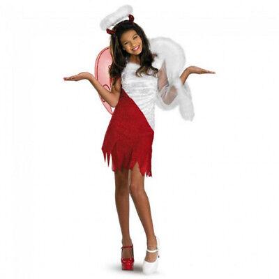 Heavenly Angel & Devil Deluxe Girl's Tween Costume | Disguise 8456 - Heavenly Devil Costume