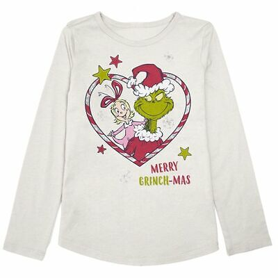 Dr. Seuss The Grinch & Cindy Lou Who Merry Grinchmas Graphic Long Sleeve T shirt