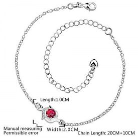 Classic Geometric Rhinestone Hollow Out Anklet For Women