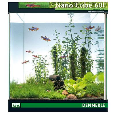 Dennerle NanoCube 60 Liter Aquarium, mit Abdeckscheibe, Unterlage, Rückwandfolie