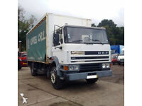 Left hand drive DAF 1900 Turbo Intercooling 17.5 ton curtainsider with tail lift.