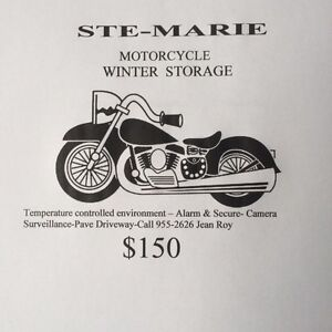Motorcycle winter heated storage