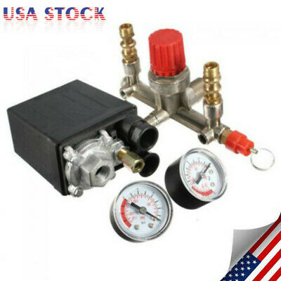 Durable Air Compressor Pressure Control Switch Valve Manifold Regulator Us