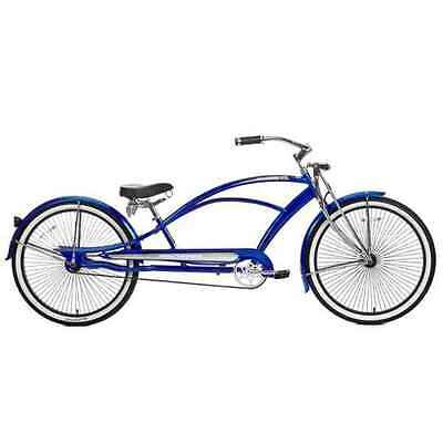 "New Micargi MUSTANG-GTS 26/"" Stretch Beach Cruiser 68 spokes Blue"