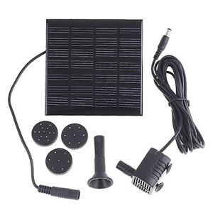 Solar Water Pump Power Panel Kit Fountain Pool Garden Pond Submersible Watering