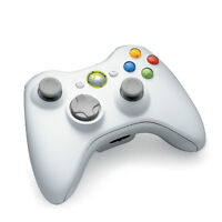 XBox 360 Wireless Controllers. One Black and One White