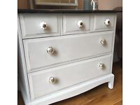 Stag minstrel chest of drawers and mirror