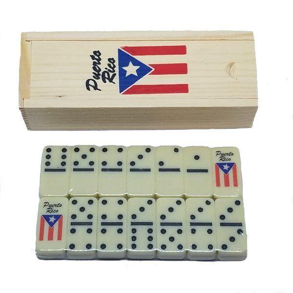 Puerto Rico Flag /& Cuatro Double Six Dominos Boricua Rican Dominoes