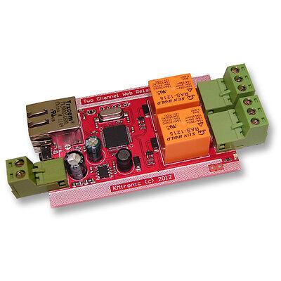 Kmtronic Lan Ethernet Ip 2 Channels Web Relay Board
