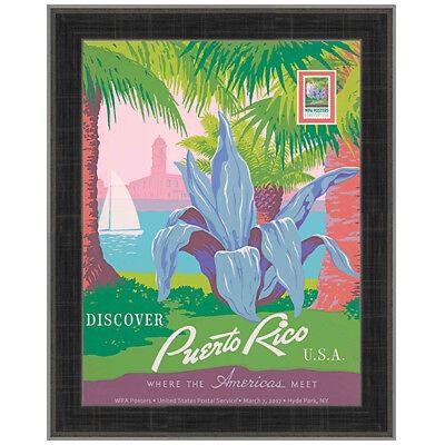 USPS New WPA - Discover Puerto Rico Framed Art