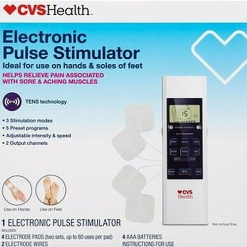 CVS Health Electronic Pulse Stimulator TENS Muscle Pain Relief NEW!
