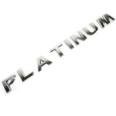 CHROME METAL PLATINUM EMBLEM SINGLE LETTERS OEM REPLACEMENT FOR TRUNK HOOD DOOR