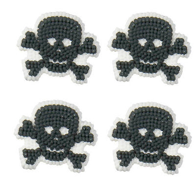 Skulls and Scrolls Halloween Icing Decorations 12 ct  from Wilton 234 NEW