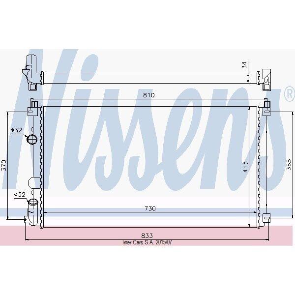 Kühler, Motorkühlung NISSENS 63819